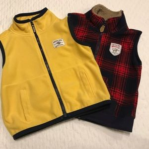 EUC Carter's Fleece Vests